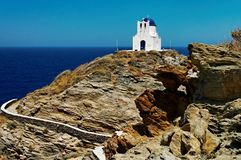 Church on Sifnos Island Stock Photography