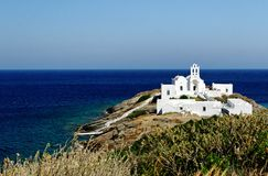Church on Sifnos island Royalty Free Stock Images