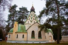 The Church of the Sigh of the Mother of God. In Seraphim-znamensky monastery Royalty Free Stock Images