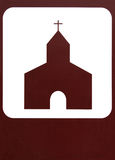 Church-sign royalty free stock photos