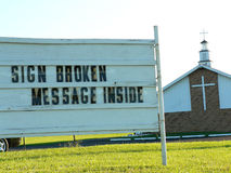 Church sign royalty free stock photography