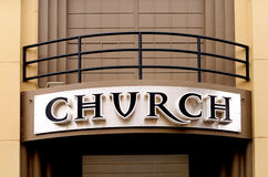 Church Sign Stock Photography