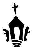 Church Sign with two Praying Silhouettes. Stock Photography