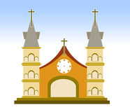 Church Sign on whitr background vector illustration Royalty Free Stock Photo