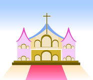 Church Sign on whitr background vector illustration Stock Photos