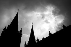 Church of the silhouette Stock Image