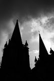Church of the silhouette Stock Photography