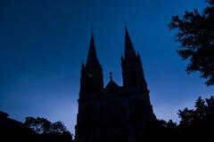 Church of the silhouette. In guangzhou,china Stock Image