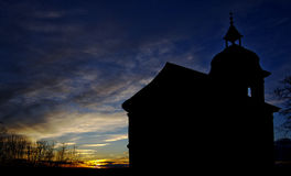 Free Church Silhouette Royalty Free Stock Photography - 35077627