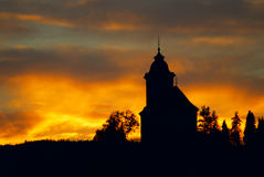 Church silhouette Royalty Free Stock Images