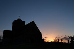 Church Silhouette at Dawn Royalty Free Stock Photography