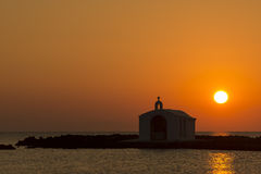Church Silhouette In Greece royalty free stock images