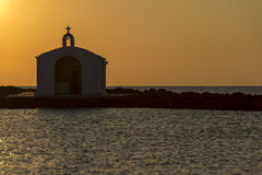 Church Silhouette In Greece Royalty Free Stock Photography