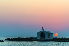 Church Silhouette In Greece Stock Photo