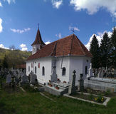 Church in Simon village in Romania Stock Photography