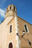 Church of sitges. Near barcelona royalty free stock photography