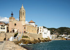 Church Sitges Barcelona Stock Images