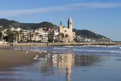Church in Sitges Royalty Free Stock Photos