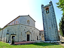 Church in Pieve della Cappella a Seravezza. Situated in an area of exceptional landscaping interest, it offers a unique view over the ancient marble quarries and royalty free stock photo