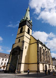 Church with skew tower Stock Image
