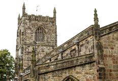 Church in Skipton. The stone church in the centre of Skipton Royalty Free Stock Photo