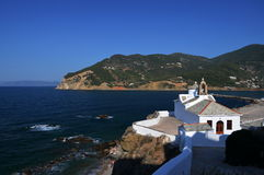 Church of Skopelos. Church of the harbor on the island of Skopelos Skopelos in Greece Royalty Free Stock Image