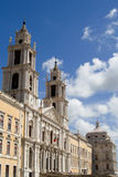 Church and Sky. The church of mafra in portugal over a blue sky Royalty Free Stock Photos