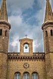 Church, sky, cross clouds. In Berlin, Germany Stock Image