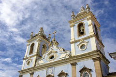 Church of slaves. Ancient and historic Church of Our Lady of the Rosary of the Blacks, built by slaves in the Pelourinho in Salvador, Bahia Royalty Free Stock Images