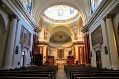 Church in sliema Stock Photography