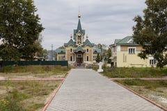 The church in sludyanka railway station ,russian federation Royalty Free Stock Image