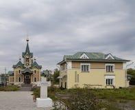 The church in sludyanka railway station ,russian federation Royalty Free Stock Images