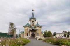 The church in sludyanka railway station ,russian federation Royalty Free Stock Photo