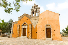 Church in small cretan village Kavros in Crete  island, Greece. Royalty Free Stock Image