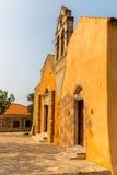 Church in small cretan village Kavros in Crete  island, Greece. Stock Photography