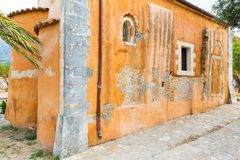 Church in small cretan village Kavros in Crete  island, Greece. Royalty Free Stock Photography