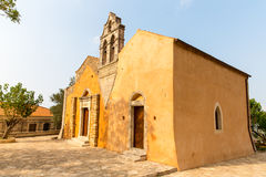 Church in small cretan village Kavros in Crete  island, Greece. Stock Photos