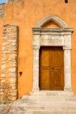Church in small cretan village Kavros in Crete  island, Greece. Stock Image