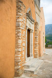 Church in small cretan village Kavros in Crete  island, Greece. Stock Image