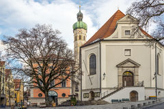 Church in a small town in Germany Stock Photos