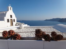 Church. Small traditional Greek Orthodox church in Oia, Santorini stock photography