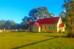 church small village Στοκ εικόνες με δικαίωμα ελεύθερης χρήσης