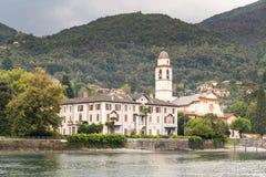 Church and small village near Bellagio on Lake Como Royalty Free Stock Image
