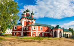 Church of the Smolensk Icon of the Mother of God of the 18th century in Uglich, Russia stock images