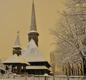 Church. In snow Royalty Free Stock Photos