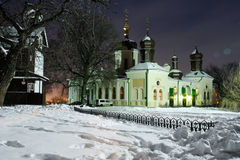 Church in the snow Stock Image