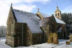Church in snow Royalty Free Stock Image