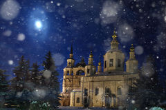 Church snow winter church snow Stock Images