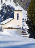 Church on snowy mountain Royalty Free Stock Photography