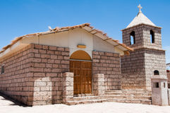 Church of Socaire, Atacama desert (Chile) Stock Photo